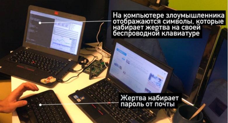 Перехват данных с беспроводной клавиатуры